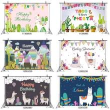 Bonito alpaca llama birthay fundo festa feliz decortion para crianças chá de bebê feliz birthay festa decoração suprimentos br47
