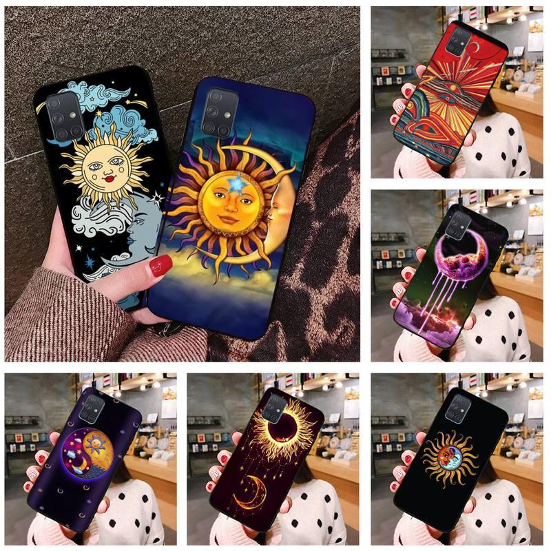 moon and sun Tattoo art Phone Case For Samsung Galaxy A21S A01 A11 A31 A81 A10 A20E A30 A40 A50 A70 A80 A71 A51
