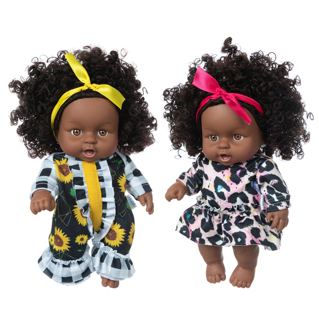 8 inch Doll Outfits Black Skin Cute Dress up Accs for Kids  Reborn Baby