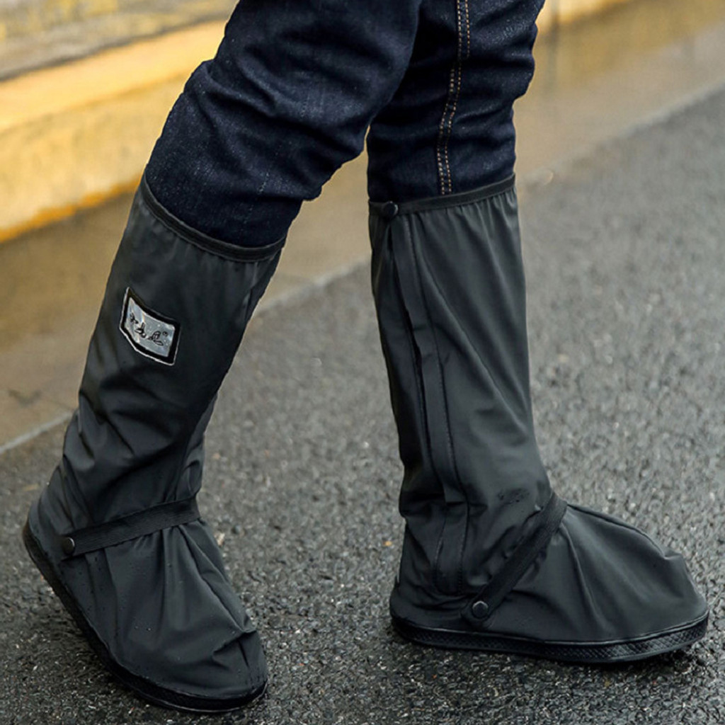 2019 Men's Rainy Day Shoes Cover Rain Boots Outdoors Reflective Work Shoes Waterproof Prevent Slippery Shoes Cover Water Shoes