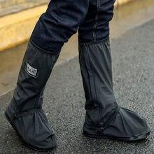 2020 Mannen Regenachtige Dag Schoenen Dekken Regen Laarzen Buiten Reflecterende Werkschoenen Waterdichte Voorkomen Gladde Schoenen Cover Water Schoenen