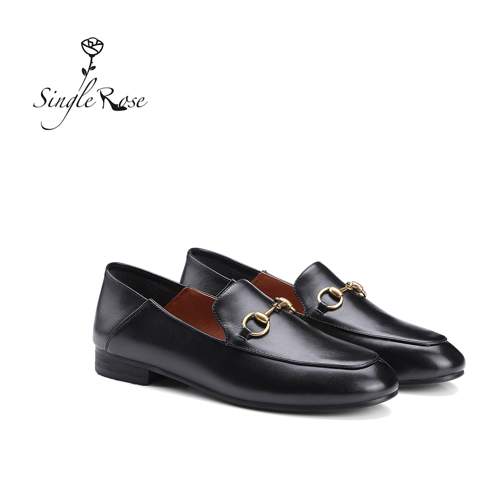 Loafer  Women Shoes  Genuine Leather Casual  Women  Shoes Simple And Comfortable Soft Sole Brand Spring Autumn Footwear G101