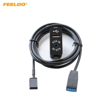 FEELDO Radio de coche USB AUX enchufe de Cable AUX/USB para BMW Serie 3 E46 01 05 arnés de Cable adaptador de Cable AUX.