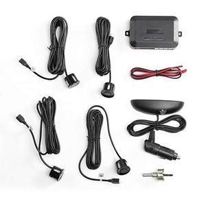 Image 3 - Wireless Car Auto Parktronic Sistema di Sensori di Parcheggio Con 4 Sensori di Retromarcia Auto Radar di Parcheggio Monitor Rivelatore di Display A LED