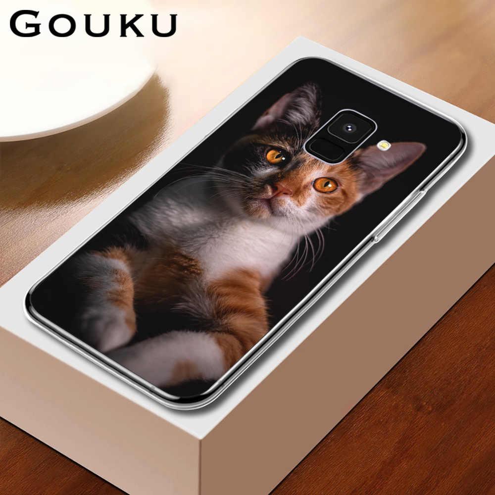 GOUKU القط جراب هاتف سيليكون غير زلة لسامسونج غالاكسي A9 8 7 6 A530 2017 2018 زائد A70 A60 A50 A40 A30 A20 A10 J6 J4