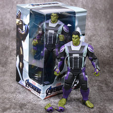Disney Marvel Toys 20 CM Avengers Quantum Suit Hulk Action Figure Dolls PVC Movable Joint Figure Gifts Toys With Delicate box