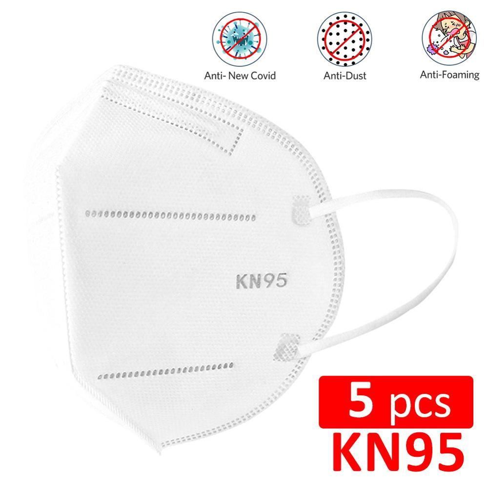 5/10pc KN95 Face Mask 4-Layer Anti Dust Anti Infection N95 Mask PM2.5 Dustproof 95% Filtration Safety Protective N95 Mouth Cover