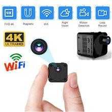 Novo 4k mini câmera wi fi inteligente sem fio câmera ip hotspot hd pequeno cam detecção de movimento vlog espia visão noturna vídeo micro