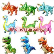 4D Dinosaur Foil Balloons  Foil Balloon Animal Balloons Childrens Dinosaur Birthday Party Decorations Balloon Kids Toys