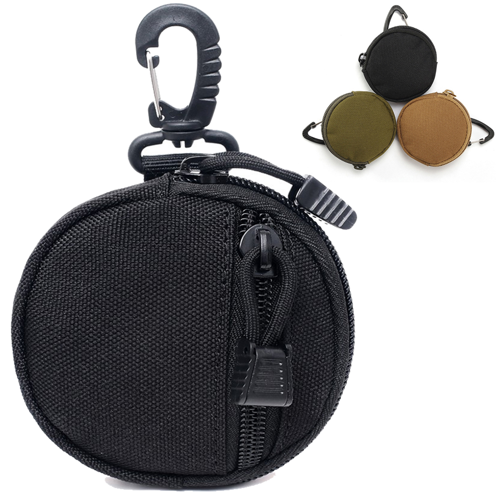 Tactical EDC Pouch Mini Key Wallet Holder Men Coin Purses Pouch Military Army Coin Pocket With Hook Waist Belt Bag For Hunting
