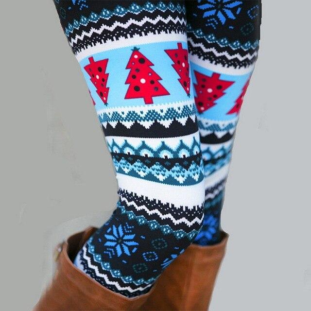 2020 New Women's Autumn Leggings Girl Winter Legging Bottoms Snowflake Christmas Deer Print Leggings Women Clothing Jeggings 6