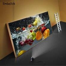 1 peças de frutas frescas quentes legumes em água cozinha decoração da casa grandes fotos parede para sala estar posters hd lona pinturas