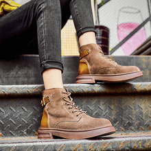 Classic Women Martin Boots 2019 Winter New Retro Ankle Motorcycle Boots Comfortable Booties British Style Combat Boots For Women