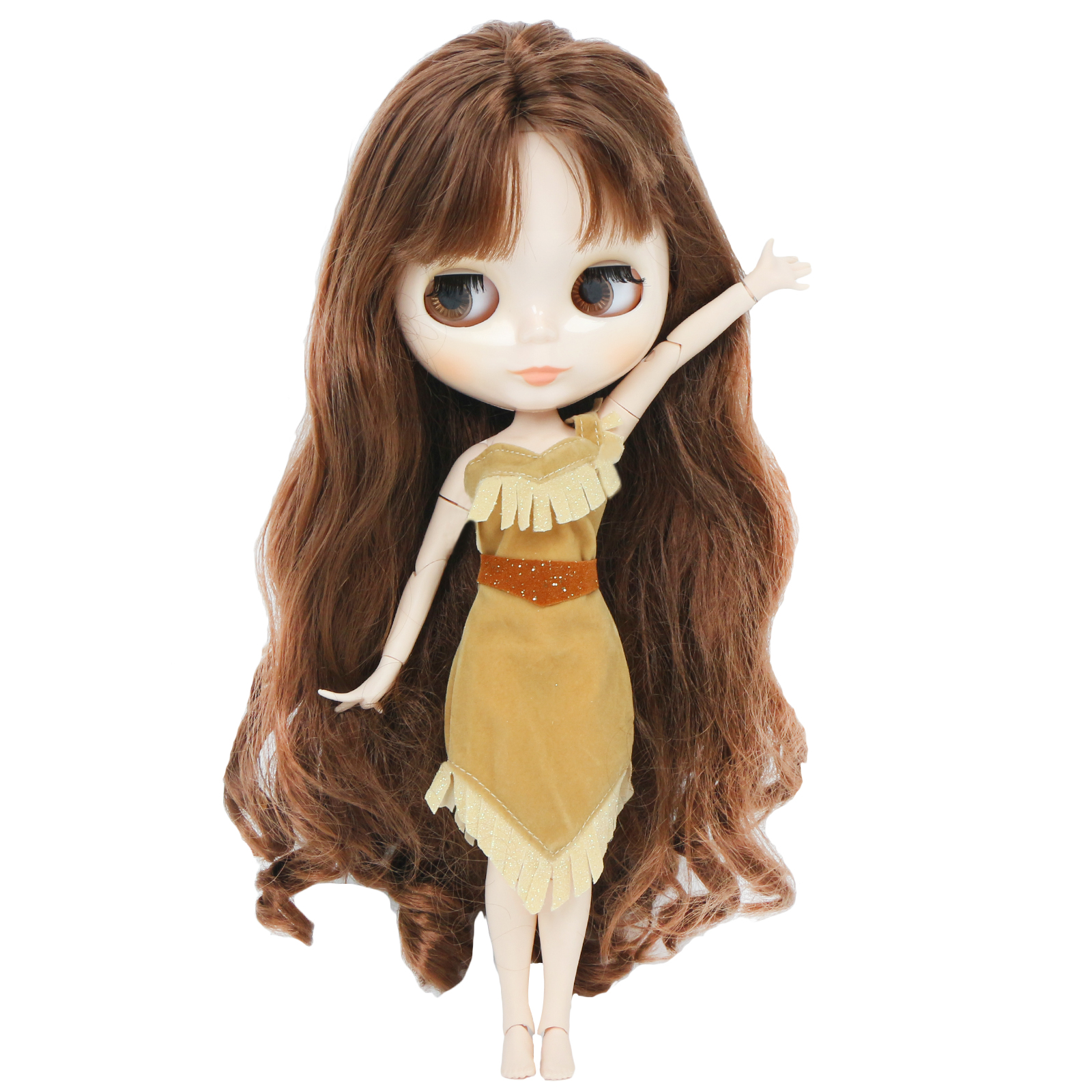 High Quality Fashion Tale Fair Doll Dress Princess Dinner Party Wear Mini Gown Skirt Clothes For Blythe Doll Accessories Kid Toy