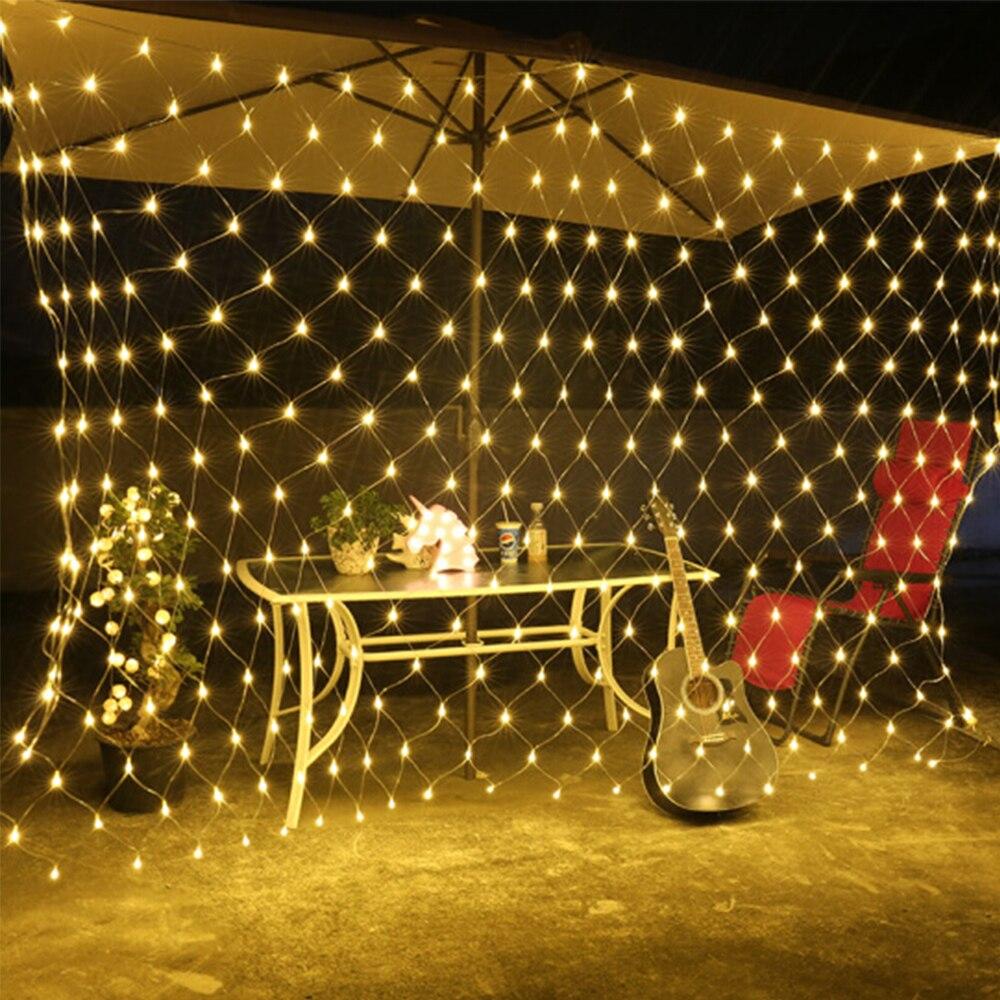 Series Connection Led Net Lights 110V 220V Wedding Decoration Christmas Fairy String Light Festival Multi Outdoor Garden Lamp