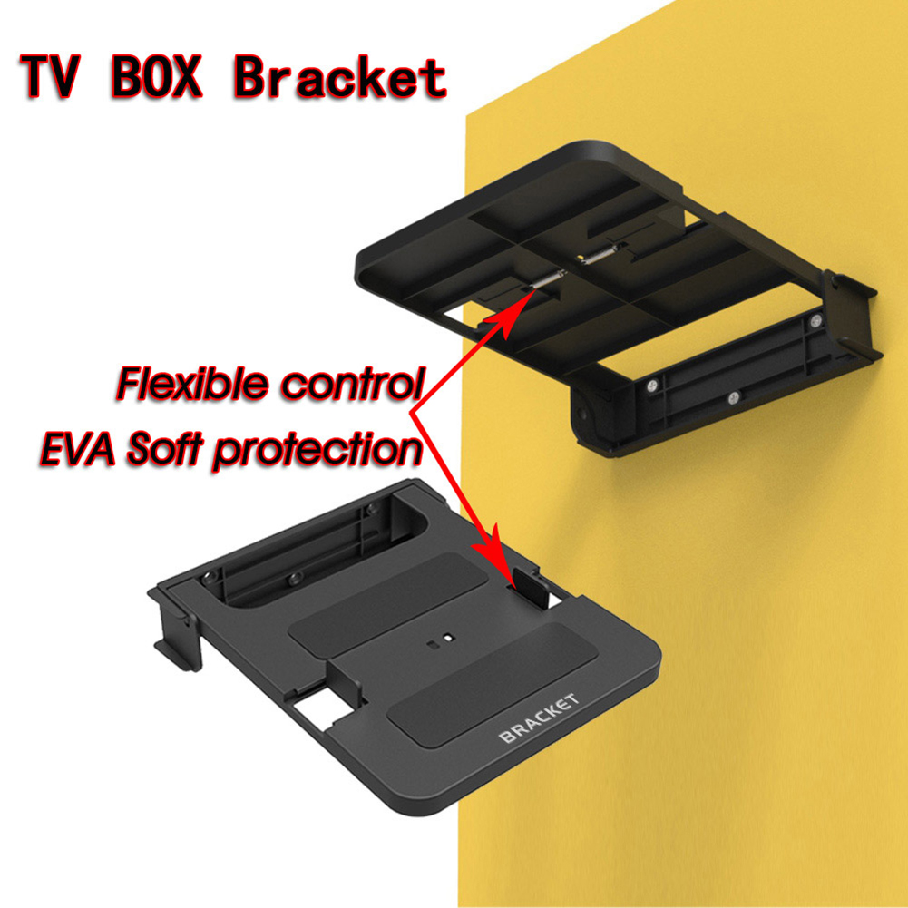 100-138mm Universal Smart TV Box Stand DVD Set Top Box Mount Holder Support Router Wall Wall-Mounted Bracket Racks Steady image
