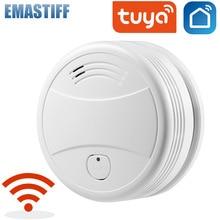 Tuya WiFi Smoke Alarm Fire Protection Smoke Detector Smart Life App Control Home Security System Alarm Firefighters Smoke Sensor