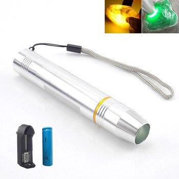Senter LED Lampu Kilat Putih Isi Ulang Batu Baterai 1