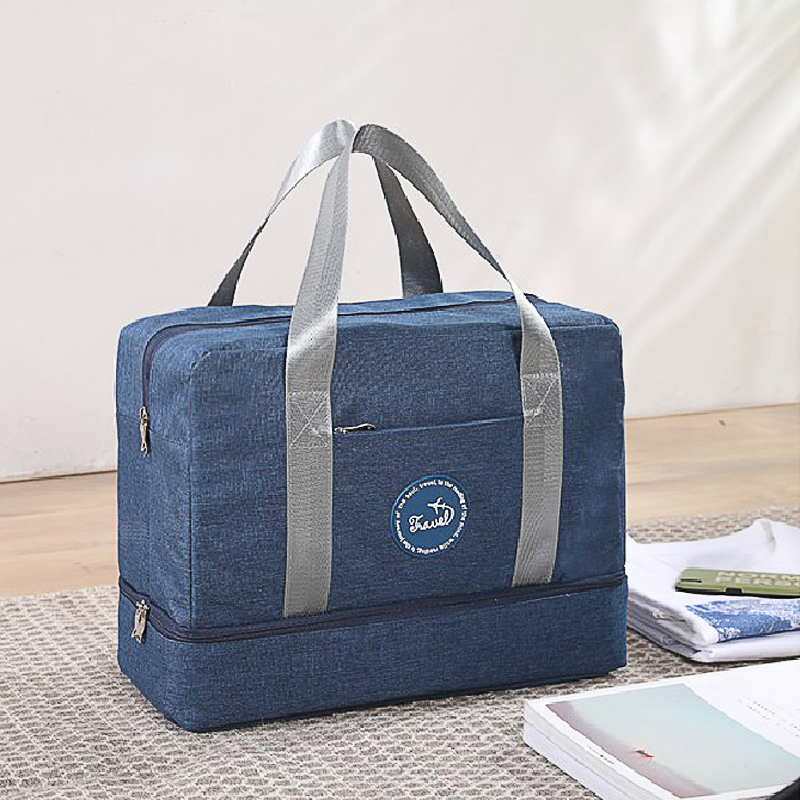 Dry And Wet Separation Multi-Function Travel Bag  Sports Fitness Large Capacity Storage Bag Bottom Compartment Storage Bag G127