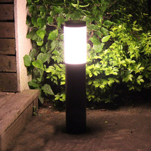 Thrisdar E27 Aluminum Outdoor Garden Pillar light Landscape Courtyard Path Lawn Light 40/60CM Outdoor Pathway Patio Post Light aluminum solar power post lamp outdoor waterproof landscape corridor porch path light lamp pillar bollard light e27 bulb include