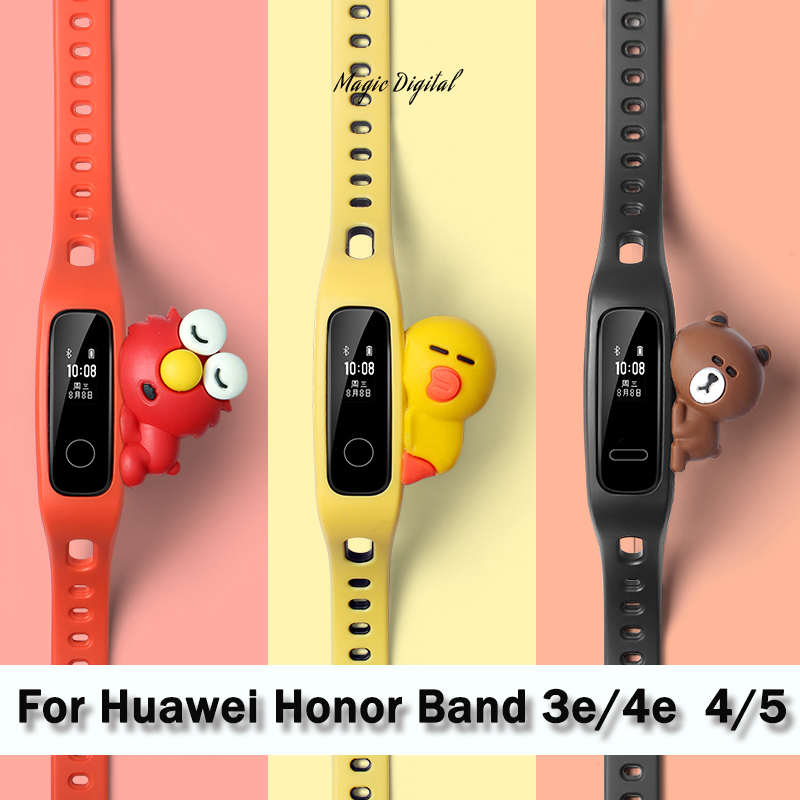 New Replacement Strap For Huawei Band 5 Silicone Watch Wrist  Huawei Honor 3e 4e Band 4 Running Smart Watch Bracelet