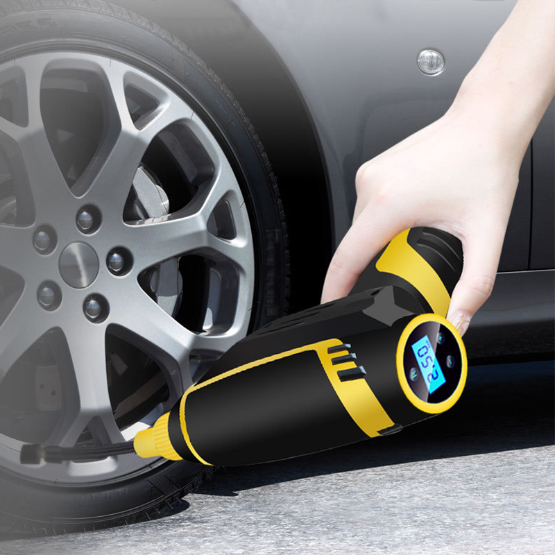 LED Light Portable Compressor Air Pump Automotive Smart Wired Tire Inflator