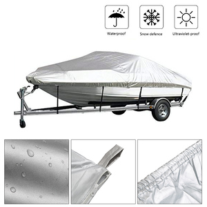 Image 1 - Boot Cover Outdoor Schutz Wasserdicht Reflektierende 300D Oxford Stoff 11 22ft für V HULL Flitzer und Bass Boote