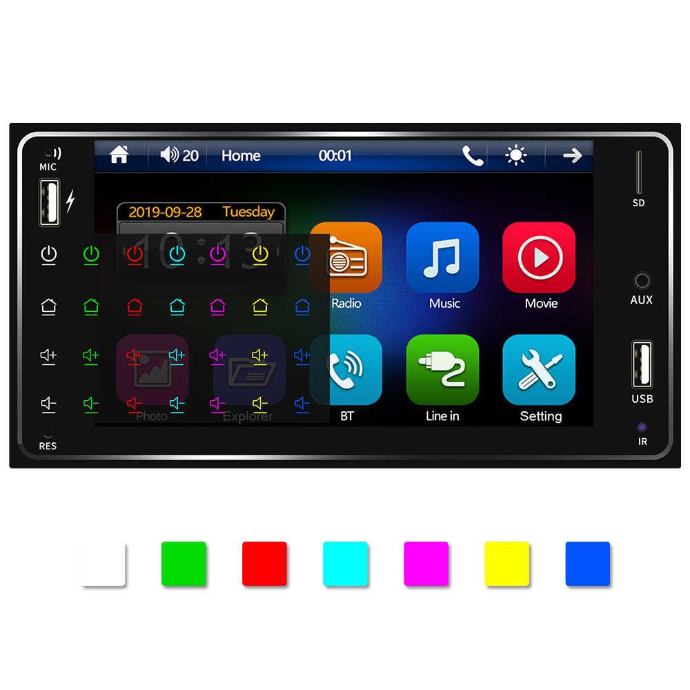 Podofo 2din Radio samochodowe Android/IOS Link FM samochodowy odtwarzacz multimedialny 2 DIN autoradio dla Toyota Corolla uniwersalny 2din auto stereo