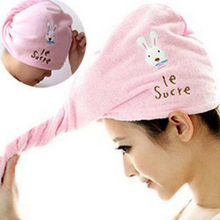 1PC Thickened Microfiber Dry Hair Towel Hat Rabbit Dry Hair Cap Super Absorbent Dry Hair Towel for Women Shower Hair Dry Tools