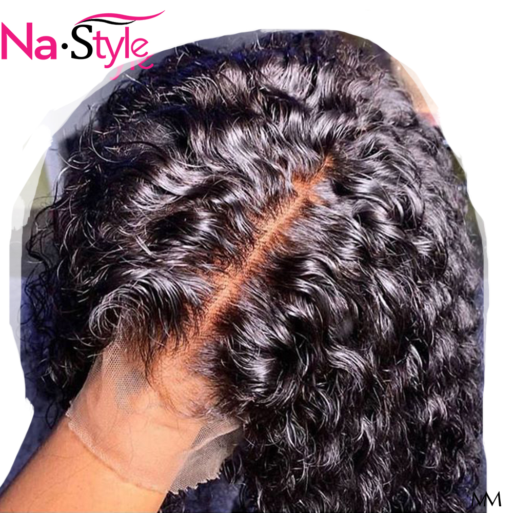 HD Fake Scalp Wig Transparent Lace Wigs Pre Plucked Bleached Knots 360 Lace Frontal Curly Bob Pixie Wig Human Hair 150 Remy