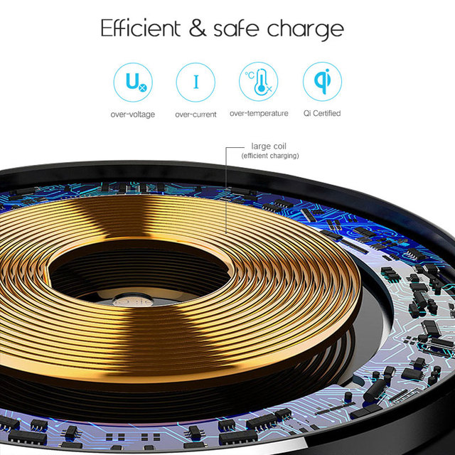 Suntaiho Qi Wireless Charger 5W Phone Charger Wireless Fast Charging Dock Cradle Charger for iPhone samsung xiaomi huawei P30 3