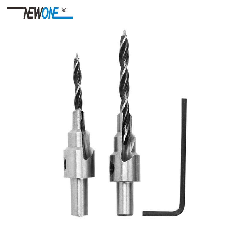 2 Pcs/set Countersink Drill Bit Power Tools Speed Out Twist Drill Bits Set Saw Wood Drilling