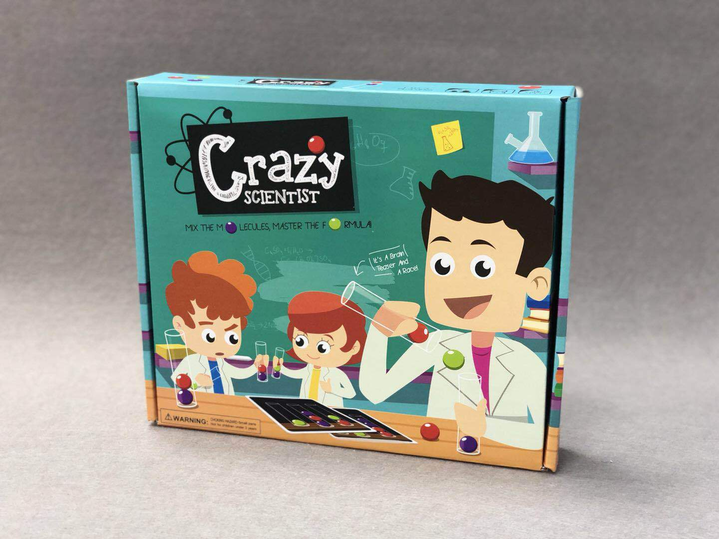 Mad Scientist Crazy Scientist Tabletop Toys Game Scientists Tube Toy   - title=