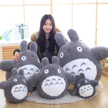 2020 New Totoro Plush Toys Soft Stuffed Animal Cartoon Pillow Cushion Cute Fat Cat Chinchillas Children Birthday Christmas Gift prettyangel genuine bandai tamashii nations s h figuarts super mario brothers mario action figure
