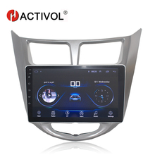 HACTIVOL 2 din Android 8.0 Car Radio Stereo For Hyundai Accent Solaris Verna i25 2011-15 car dvd player GPS navi WIFI car audio hactivol 2 din car radio face plate frame for hyundai accent 2006 2011 car dvd gps navi player panel dash mount kit car product