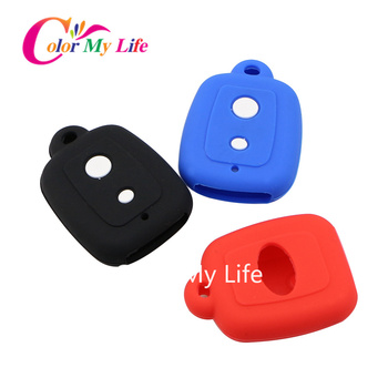 Silicone Car Key Cover Case for Perodua Myvi Viva Alza 2 Button Remote Key Protector Covers Case Accessories image