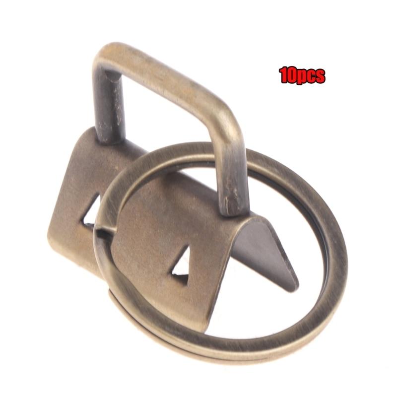 10Pcs Key Fob Hardware 25mm Keychain Split Ring For Wrist Wristlets Cotton Tail Clip L69A