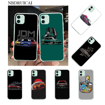 NBDRUICAI Street Racing Drift Cars Auto JDM Custom Photo Soft Phone Case for iPhone 11 pro XS MAX 8 7 6 6S Plus X 5S SE XR cover image