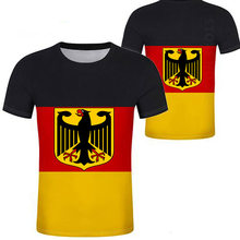 GERMANY male youth student diy free custom deu nation flag t shirt free shipping Harajuku Hip Hop Top large size tshirt