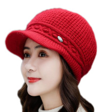 BINGYUANHAOXUAN 2019 New Warm Winter Female Hat Rabbit Fur Thick Short Brim Women Keep Beret Soft Breathable