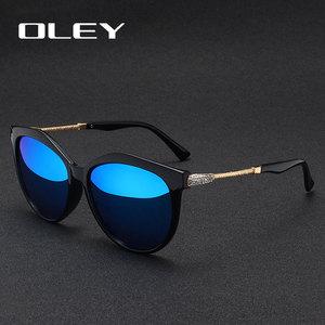 Image 5 - OLEY العلامة التجارية جولة النظارات الشمسية النساء الاستقطاب أزياء السيدات نظارات شمسية الإناث خمر ظلال Oculos دي سول Feminino UV400 Y7405