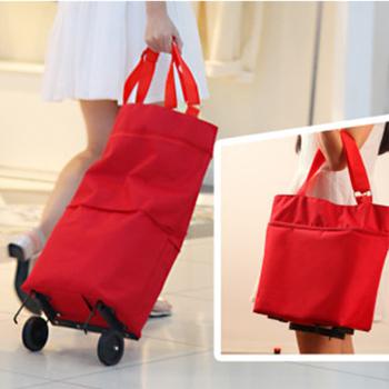 Oxford składana torba na zakupy zakupy torba na koła wózkowe mała torba na zakupy damska torba na zakupy torba na zakupy organizator holownik tanie i dobre opinie USDROPSHIP CN (pochodzenie) WOMEN Stałe Torby na zakupy zipper A185 Moda