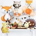 1 шт воздушные шары из фольги в виде животного на свадьбу и день рождения лес вечерние украшения баллоны с гелием лиса Ёж белка енот детского...
