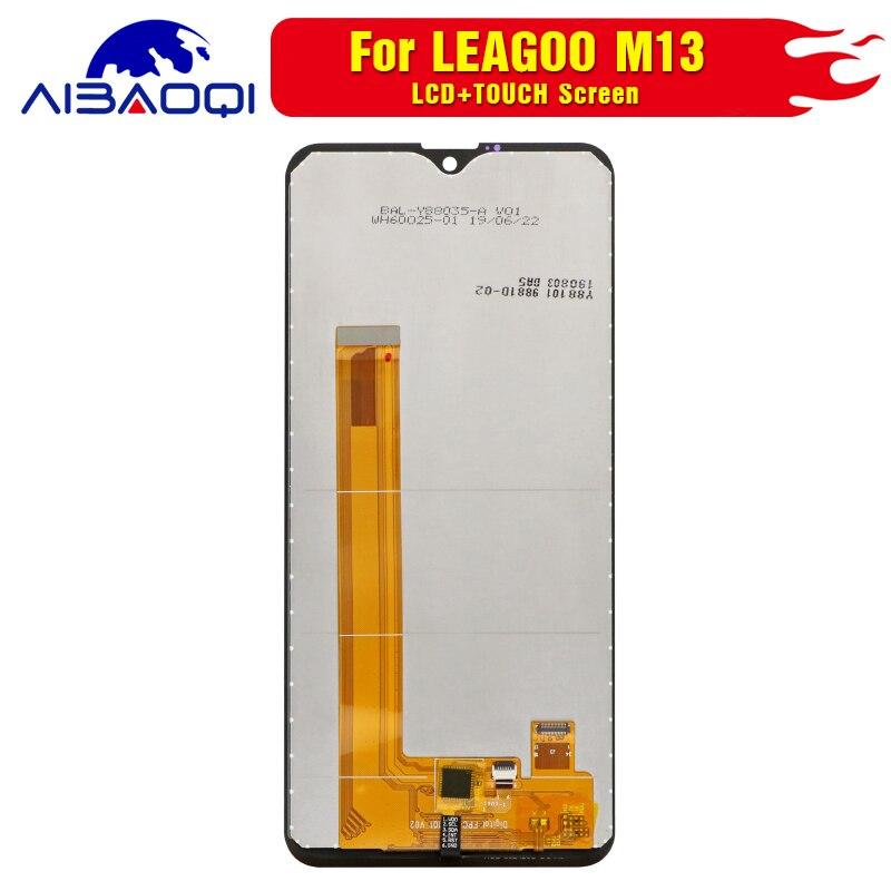Image 3 - Новый оригинальный Сенсорный экран ЖК дисплей Дисплей ЖК дисплей Экран для Leagoo M13 Запчасти для авто + инструмент для демонтажа + 3 М клейЭкраны для мобильных телефонов   -