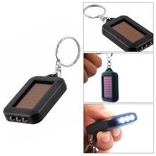 Портативный мини-брелок флэш-светильник Геометрическая Солнечная энергия черный аккумулятор пластиковый фонарь вспышка светильник светодиодный светильник уличный походный гаджет
