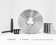 SAN OU K11- 130/K11- 160/3 Jaw Lathe Chuck /130mm/160mm/ a Wrench, 3 Screws / a Positive Claw and a Reverse Claw