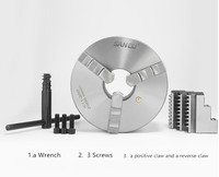 SAN OU K11 130/K11 160/3 Jaw Lathe Chuck /130mm/160mm/ a Wrench, 3 Screws / a Positive Claw and a Reverse Claw