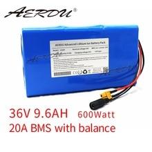 AERDU 10S3P е-байка 36В 9.6Ah Высокая мощность 18650 литиевая батарея пакет цилиндрическая литий-ионный аккумулятор для электровелосипедов скутер с 25A...