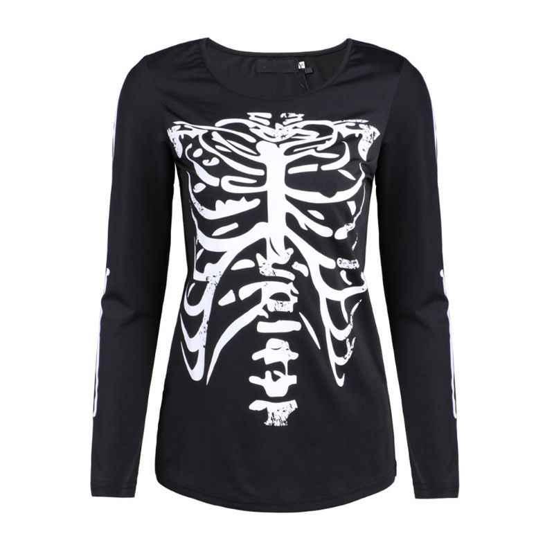 Dancings Skeleton Sweatshirt for Women Halloween Sweatshirts Long Sleeve Pullover Tops Loose Blouse