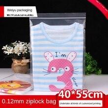 Ziplock Bag Transparent Plastic Bag Plastic Packaging Bag 40x55cm Thickened 0.12mm Food Pocket Fresh-Keeping Plastic Sealed Bag
